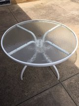 """Patio 42"""" D Round Table with Tempered Glass Top in Cleveland, Ohio"""