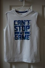 Boys Starter White Can't Stop My Game Graphic Muscle Tank Size 6/7 in Joliet, Illinois