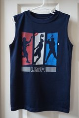 Boys Americana Navy Althletic Graphic Muscle Tank Size 6/7 in Joliet, Illinois