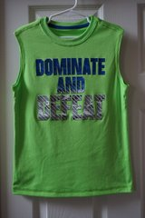 Boys Starter Green Dominate and Defeat Graphic Muscle Tank Size 6/7 in Joliet, Illinois