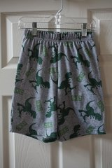 Boys Faded Glory Grey/Green Dinosaur Pajama Shorts Size 6/7 in Plainfield, Illinois