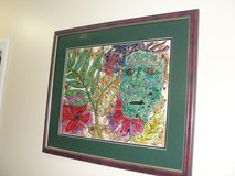 """HAWAIIAN MASK"" FRAMED ART WORK in Camp Lejeune, North Carolina"