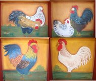 Hand Made and Painted Shelving Unit, Chickens & Roosters in Camp Lejeune, North Carolina