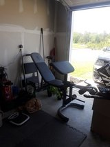 New workout  bench and weights in Columbia, South Carolina