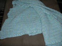 "LARGE Custom Home-Made Baby Blanket 51"" X 51"" Teal / Speckled in Houston, Texas"