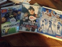 2 Wii Games Madden and NCAA Football in Fort Campbell, Kentucky