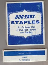 10 UNOPENED BOXES OF DUO FAST STAPLES in Oceanside, California