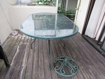 Wrought Iron Patio Table with Umbrella stand in Okinawa, Japan