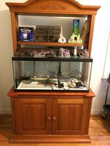 50 Gallon Aquarium With Cabinet Stand And 10 Gallon Breeder Tank in Camp Lejeune, North Carolina