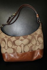 Signature Coach East West Shoulder Bag In Tobacco in Lawton, Oklahoma