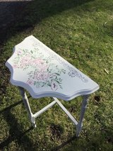 Antique half moon table in St. Charles, Illinois