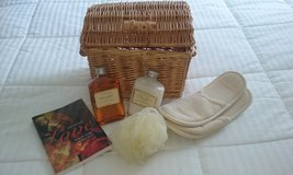 Wicker basket with body wash, lotion, and more! in Fort Campbell, Kentucky