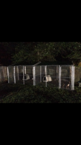 10x10 chain link dog kennel with roof in Kingwood, Texas