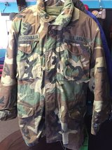USMC BDU Woodland Camo Cold Weather Field Coat WITH LINER in 29 Palms, California