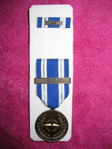 NEW MISSING US Non-Article 5 NATO Medal (ISAF Bar) Afghanistan with RIBBON & Bar in 29 Palms, California