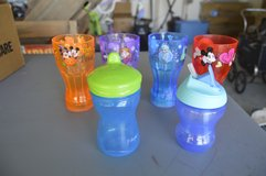 6 Children's cups (2 sippy cups) in Camp Lejeune, North Carolina