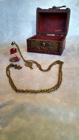Beauty and the Beast Necklace (18 inches long) with lovely wooden keepsake box in Travis AFB, California