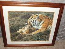 "BEAUTIFUL FRAMED ""TIGER & BABY"" ART WORK in Camp Lejeune, North Carolina"