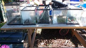 Assorted aquariums in Fort Riley, Kansas
