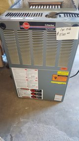 Gas Furnace, Rheem Criterlon 1 yr old in Alamogordo, New Mexico