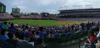 Chicago Cubs ($10 under face value) Aisle seats with perfect view in Aurora, Illinois