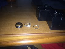 Wedding ring set for her and him in Yucca Valley, California
