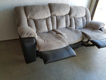 Couch with 2 built in recliners, used 6 months, Paid $1000 in Travis AFB, California