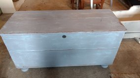 Early pine storage chest in Camp Lejeune, North Carolina