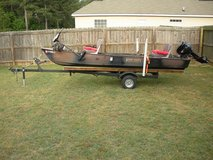14' River Kraft Cheenoe w/Outboard, Trolling Motor, Trailer in Perry, Georgia