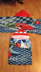 Set of 2 Disney Lightning McQueen toddler hooded towels in Chicago, Illinois