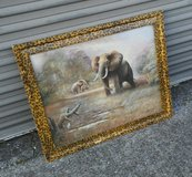 Elephant Painting in Fort Campbell, Kentucky