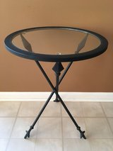 Wrought Iron Glass Side Accent Table in Shorewood, Illinois