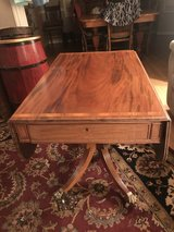 Victorian English Mahogany  Drop Leaf Side End Sofa Table W Drawers in Cherry Point, North Carolina