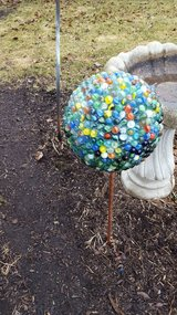 Handmade gazing balls in Oswego, Illinois