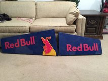 Large metal Red Bull sign in Warner Robins, Georgia