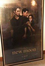 Autographed Twlight New Moon Poster in Glendale Heights, Illinois