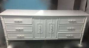 Dresser / faux bamboo / white /bedroom pieces also avaiiable in Morris, Illinois
