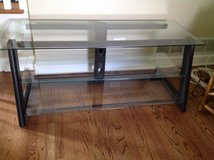 Glass and iron tv stand in Bartlett, Illinois