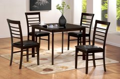 NEW! 5PC HARDWOOD CASUAL DINING SET in Camp Pendleton, California