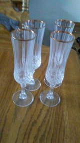 Crystal Champagne Glasses ( set of 4) in Orland Park, Illinois