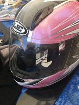 HJC pink motorcycle helmet size M youth in Fairfield, California