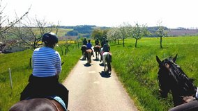Sunday is Trail Ride Day in Ramstein, Germany