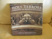 Holy Terrors: Gargoyles on Medieval Buildings Hardcover Book in Elgin, Illinois