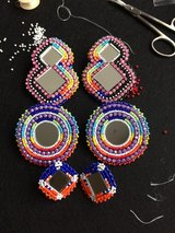 Native American beaded earrings!! in Fort Carson, Colorado