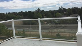 Glass Deck Railing in Vacaville, California