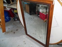 BEVELED EDGE MIRROR AND FRAME   FRAME HAS A BAD PLACE in Warner Robins, Georgia