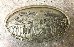 Vintage Wild Turkey Brass Belt Buckle in 29 Palms, California