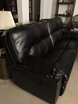 Faux leather couch and recliner in Temecula, California