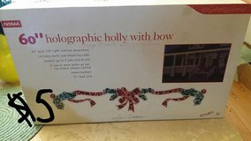 """60"""" Holographic holly with bow in Bartlett, Illinois"""