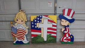 patriotic yard art  angel in Kingwood, Texas